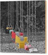 Still Swings Wood Print