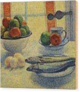 Stilleven Met Vis 1885 Wood Print