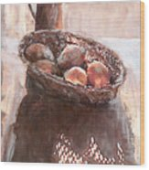 Stillife With Onions Wood Print