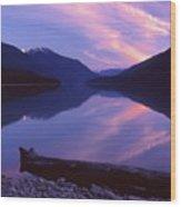 Stillness At Lillooet Lake  Wood Print
