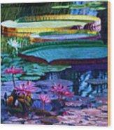 Stillness of Color and Light Wood Print