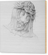 Stillness.christ Wood Print