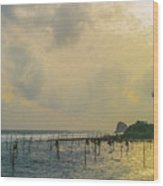 Stilt Fisherman Wood Print