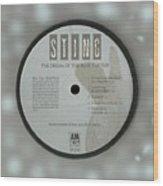 Sting Dream Of The Blue Turtles Lp Label Wood Print