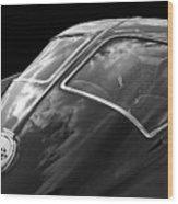 Stingray Split Window 1963 In Black And White Wood Print