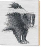 Stiped Skunk Wood Print