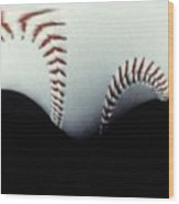 Stitches Of The Game Wood Print