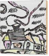 Stitchlip's House Wood Print