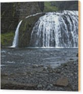 Stjornarfoss Waterfall - Iceland Wood Print