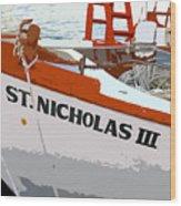 St.nicholas Three Wood Print