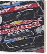 Stock Car Brasil Caca Bueno Wood Print