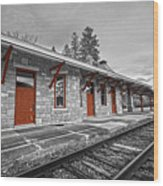 Stockbridge Train Station Wood Print