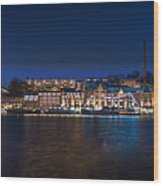 Stockholm By Night Wood Print