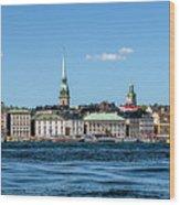 Stockholm From Lake Malaren Wood Print