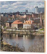 Stockholm From Skansen Wood Print