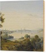 Stockholm Inlet Of Lake Wood Print