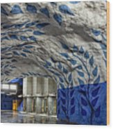 Stockholm Metro Art Collection - 002 Wood Print