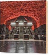 Stockholm Metro Art Collection - 014 Wood Print