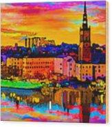 Stockholm Reflective Art Wood Print