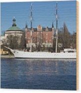 Stockholm Ship Wood Print