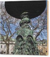 Stockholm Statue Wood Print