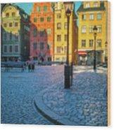 Stockholm Stortorget Square Wood Print