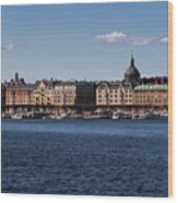 Stockholm Waterscape Wood Print