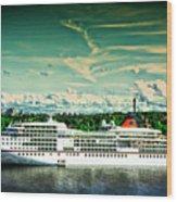 Stockholm X Wood Print