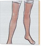 Stocking Legs Pop Art Wood Print