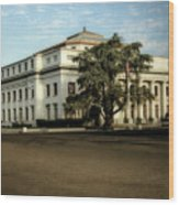 Stockton Civic Auditorium 2 Wood Print