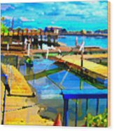 Stockton Harbor Wood Print