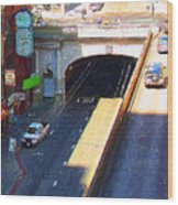 Stockton Street Tunnel In Heavy Shadow . Long Version Wood Print
