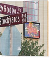 Stockyards Fort Worth 6815 Wood Print