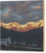 Stok Range At Dawn, Stok, 2004 Wood Print