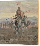 Stolen Horses Wood Print by Charles Marion Russell