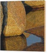 Stone And Shadow Wood Print