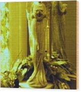 Stone Angel Wood Print