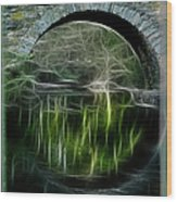 Stone Arch Bridge - Ny Wood Print