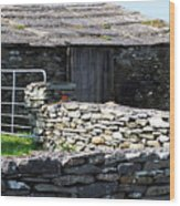 Stone Barn Doolin Ireland Wood Print