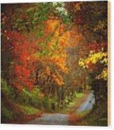 Stone Bridge Road Wood Print by Joyce Kimble Smith