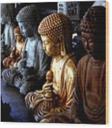 Stone Buddhas Wood Print