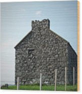 Stone Building Maam Ireland Wood Print
