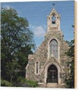 Stone Chapel Wood Print