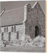 Stone Church Wood Print