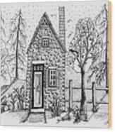 Stone Cottage Wood Print