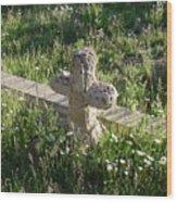 Stone Cross Wood Print