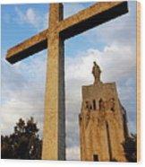 Stone Crucifix Wood Print