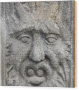 Stone Face Wood Print