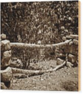 Stone Fence S Wood Print