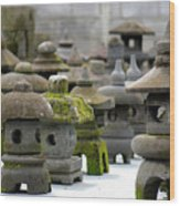 Stone Figures Wood Print